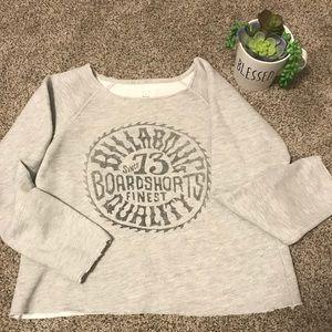 Billibong grey destructed sweatshirt women's xs